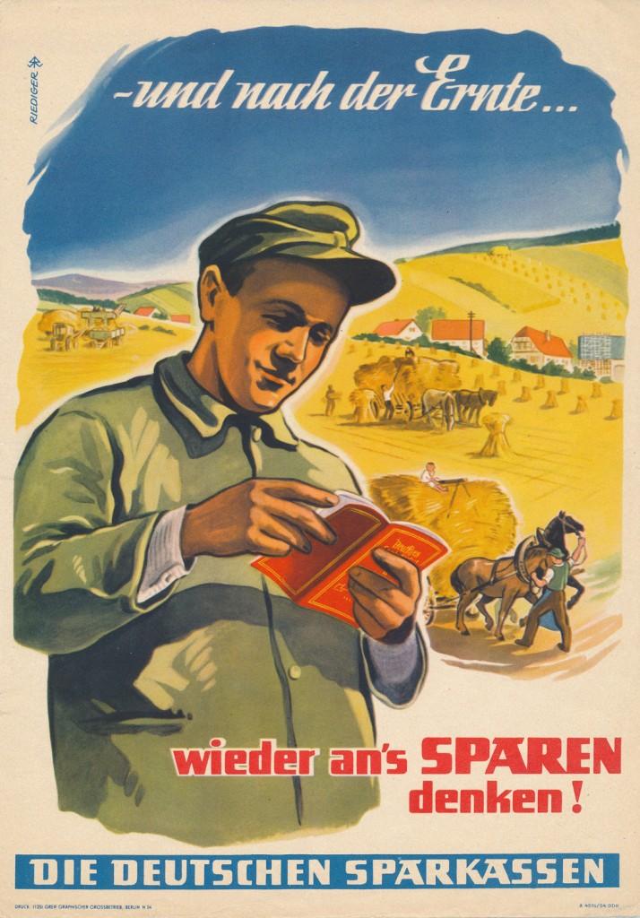 Sparkasse Flyer DDR 1956