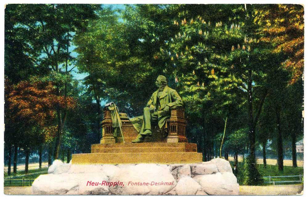 Ansichtskarte Fontane-Denkmal