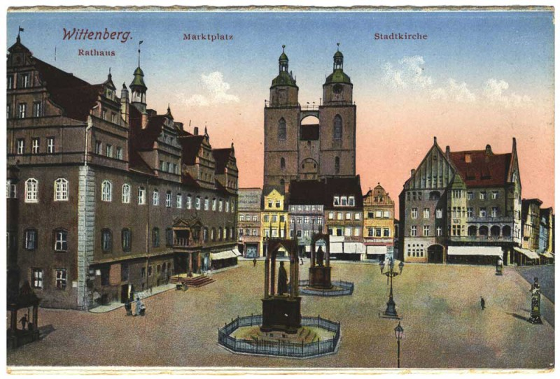 Ansichtskarte Rathaus Wittenberg