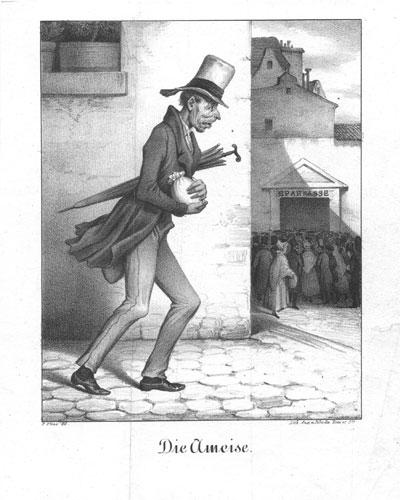 Die Ameise. Lithographie von F. Elias bei Pobuda, Rees & Cie., um 1830