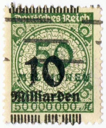 Briefmarke 1923 10 Milliarden Mark