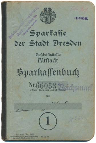 Sparbuch Dresden 1909