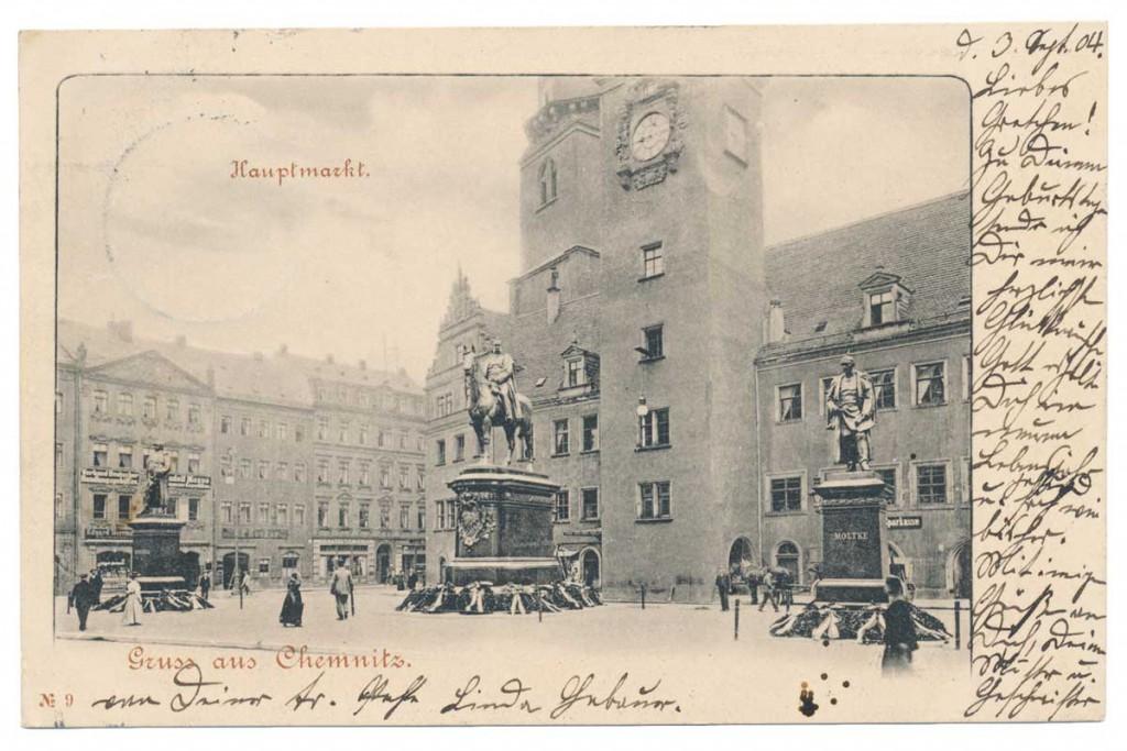 Ansichtskarte Sparkasse Chemnitz 1904