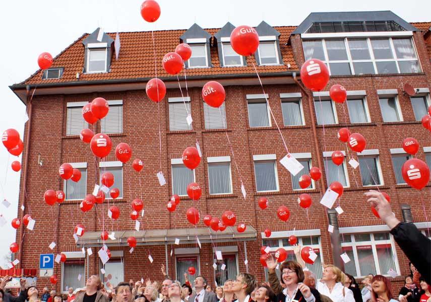 Ballons Sparkasse Uecker-Randow