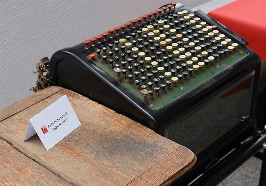 Rechenmaschine Sparkasse Uecker-Randow