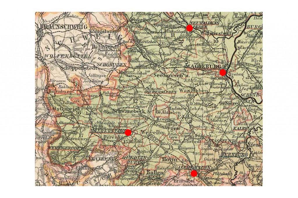 Landkarte Provinz Sachsen