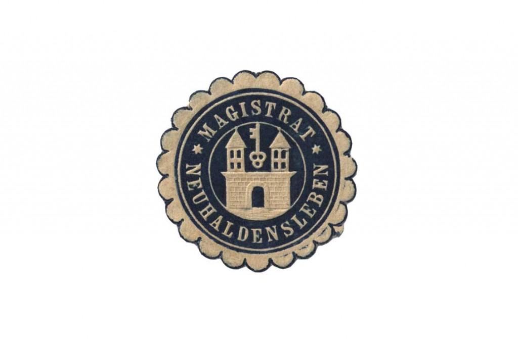 Siegelmarke Magistrat Neuhaldensleben