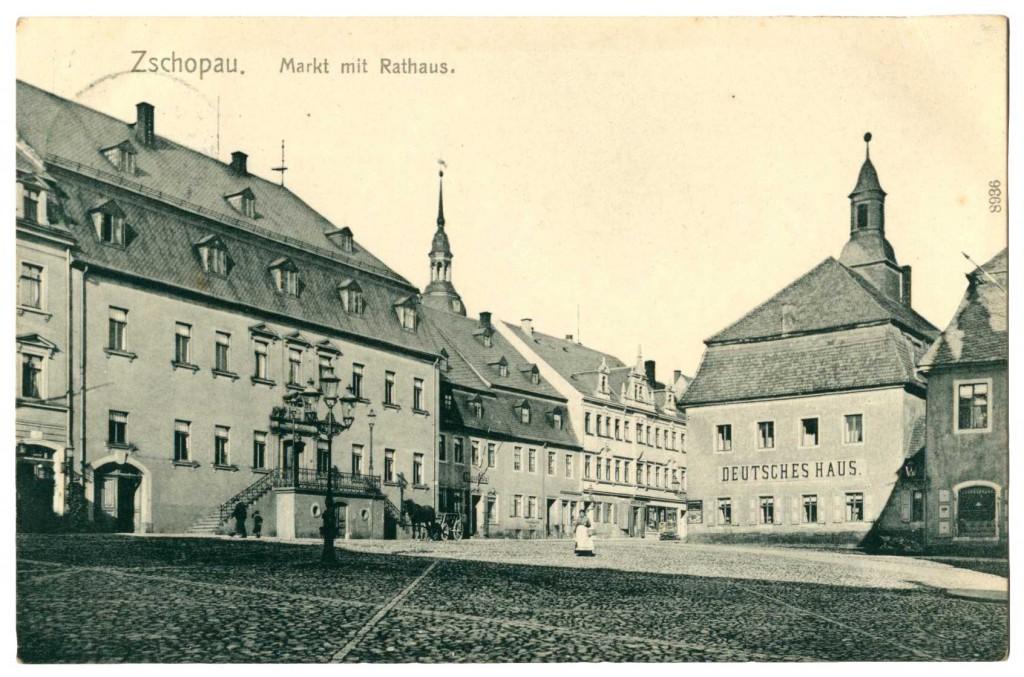 Ansichtskarte Markt Zschopau