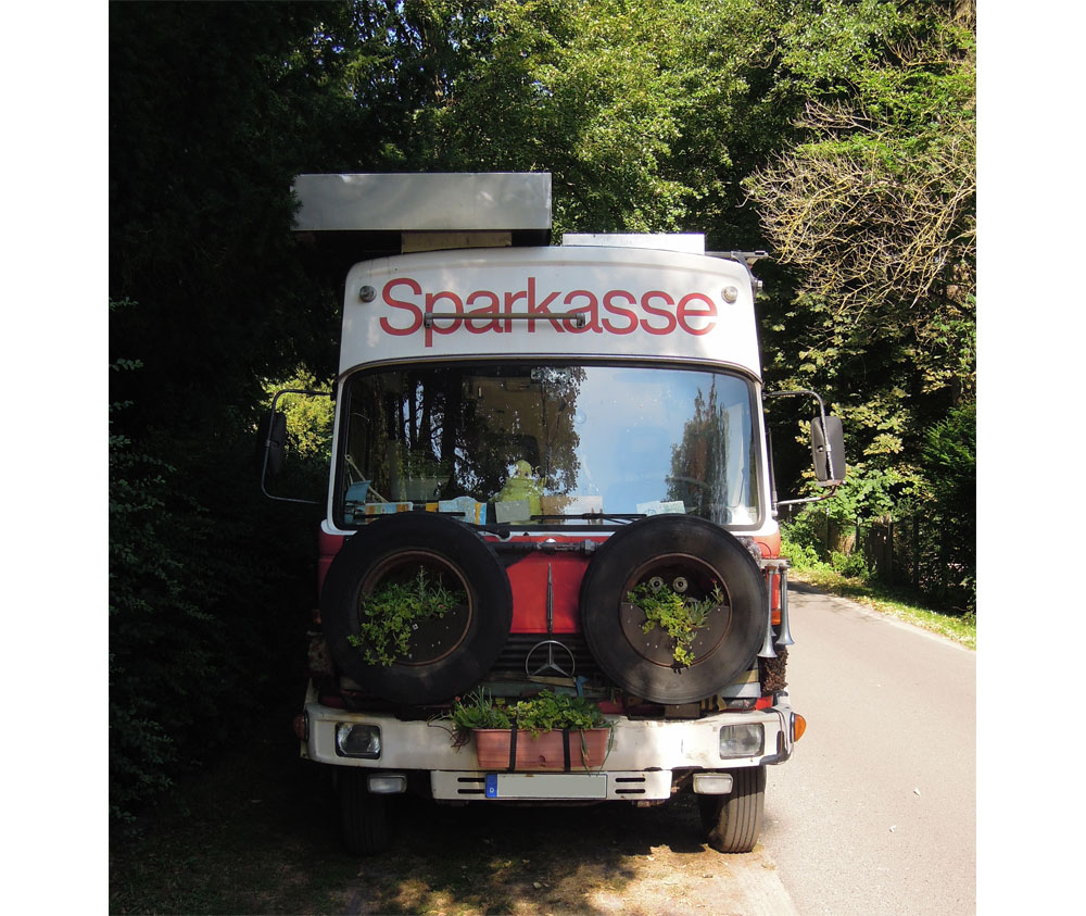 Sparkassenbus Wohnmbobil