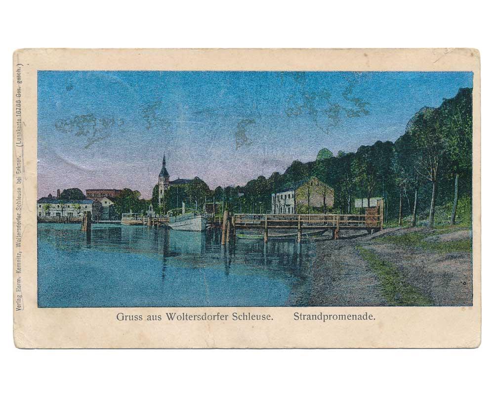 Ansichtskarte Schleuse Woltersdorf