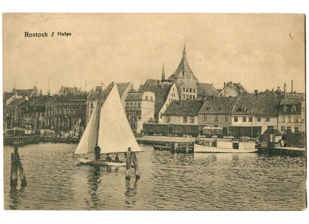 Ansichtskarte Rostock Hafen