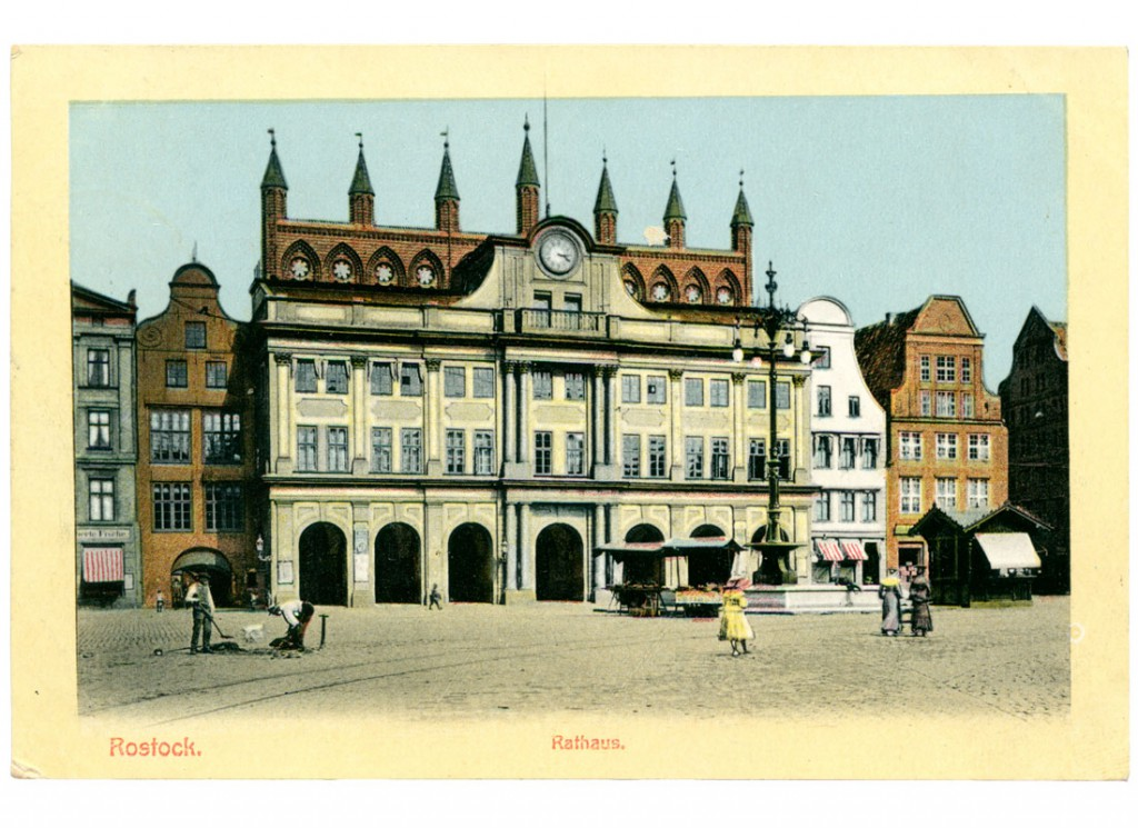 Ansichtskarte Rathaus Rostock