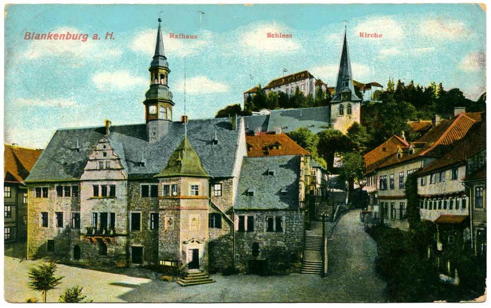 Ansichtskarte Blankenburg Harz