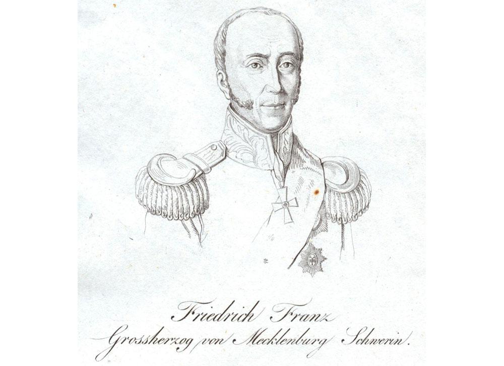 Stich Grossherzog Friedrich Franz