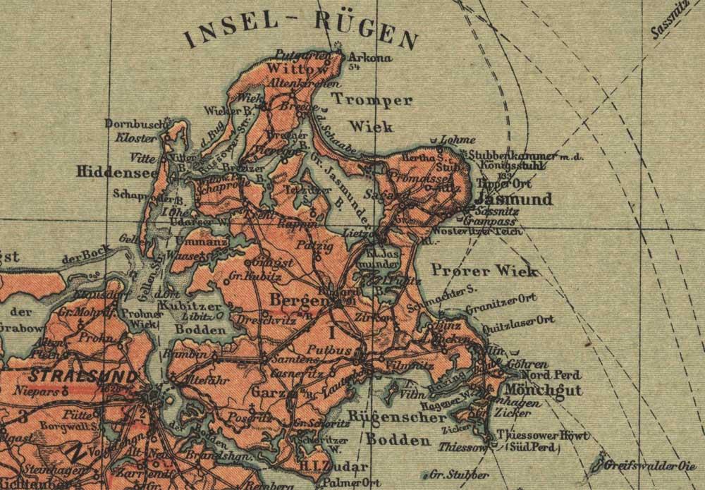 Landkarte Ruegen