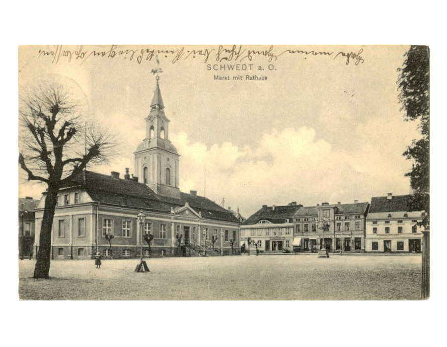 Ansichtskarte Rathaus Schwedt