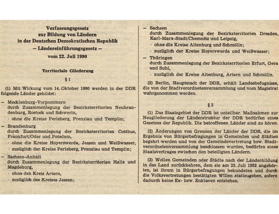 Laendereinfuehrungsgesetz 1990