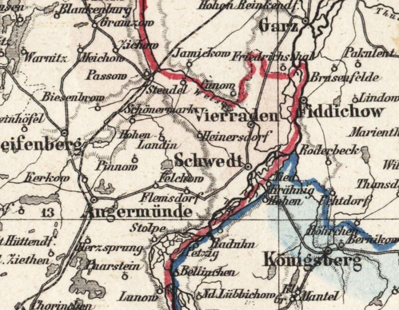 Landkarte Schwedt Oder Brandenburg