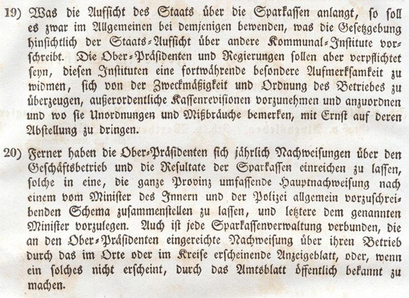 Sparkassenreglement Preusse 1838