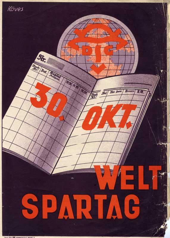 Weltspartagsplakat um 1928