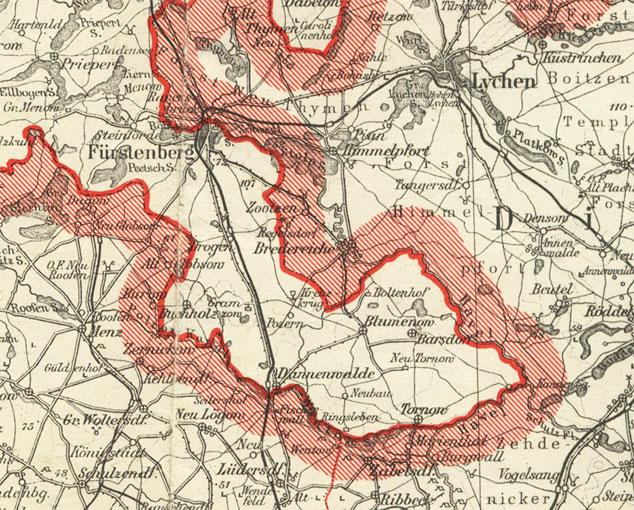 Karte Fuerstenberger Werder