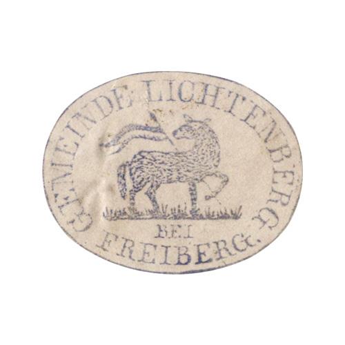 Siegelmarke Gemeinde Lichtenberg
