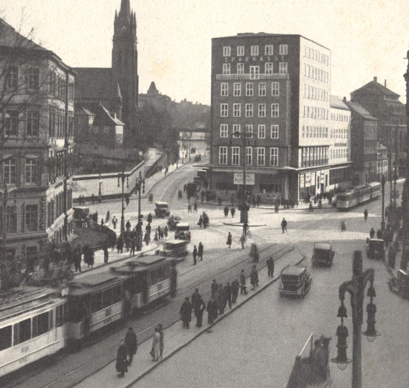 Chemnitz Sparkasse Falkeplatz 1930