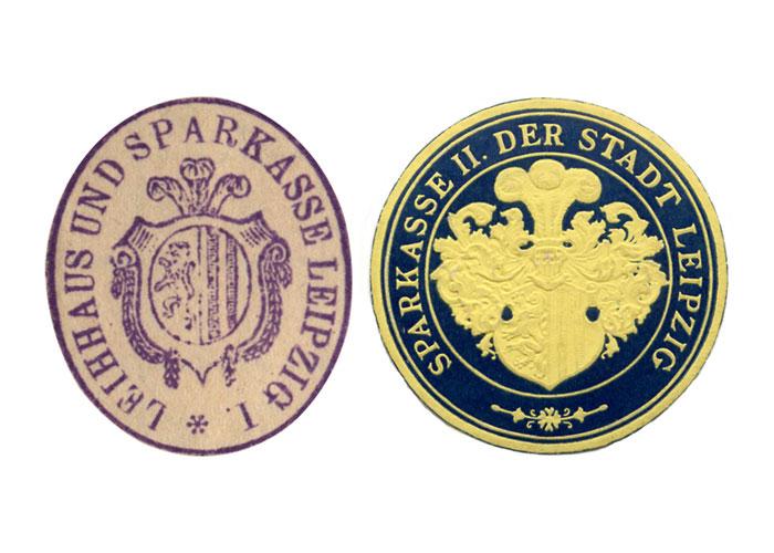 Stempel Siegelmarke Sparkasse Leipzig