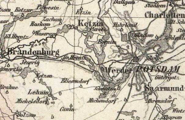 Brandenburg Potsdam Landkarte