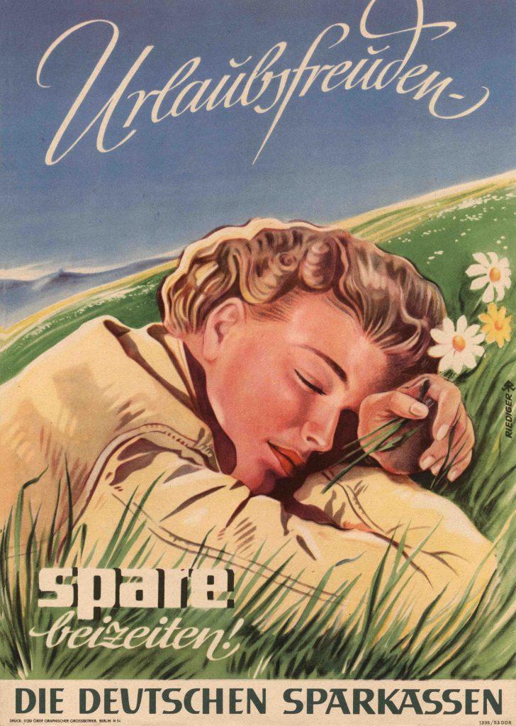 Plakat Urlaubsfreuden DDR 1953