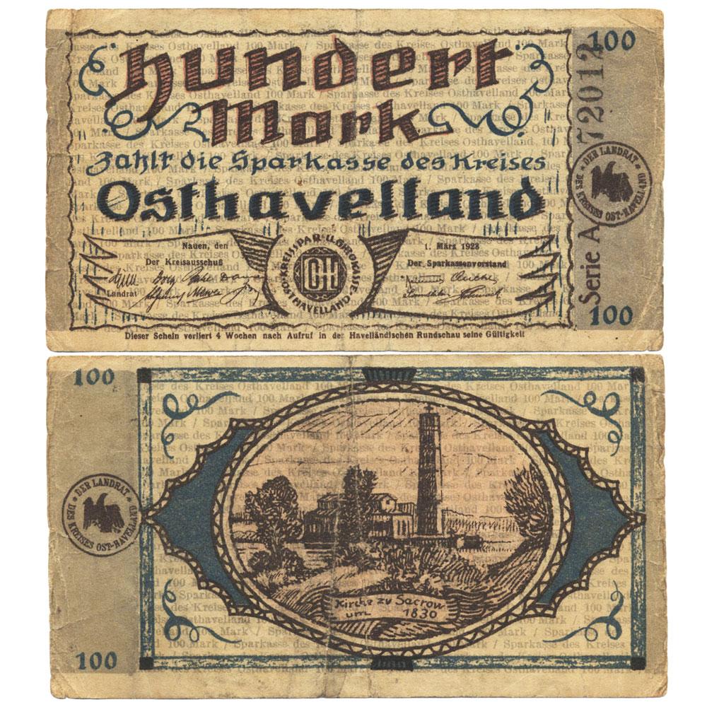 Notgeld Kreissparkasse Nauen 1923