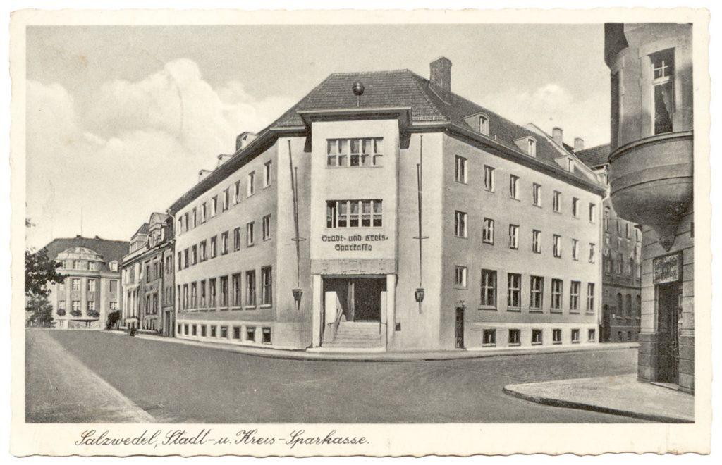 Ansichtskarte Sparkasse Salzwedel