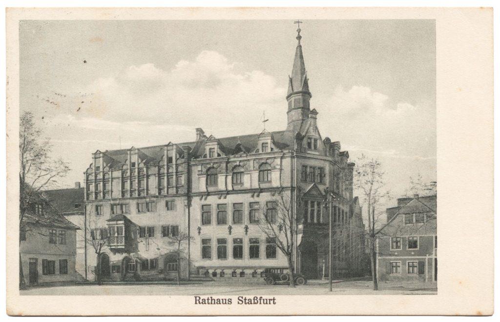 Rathaus Stassfurt Sparkasse 1928