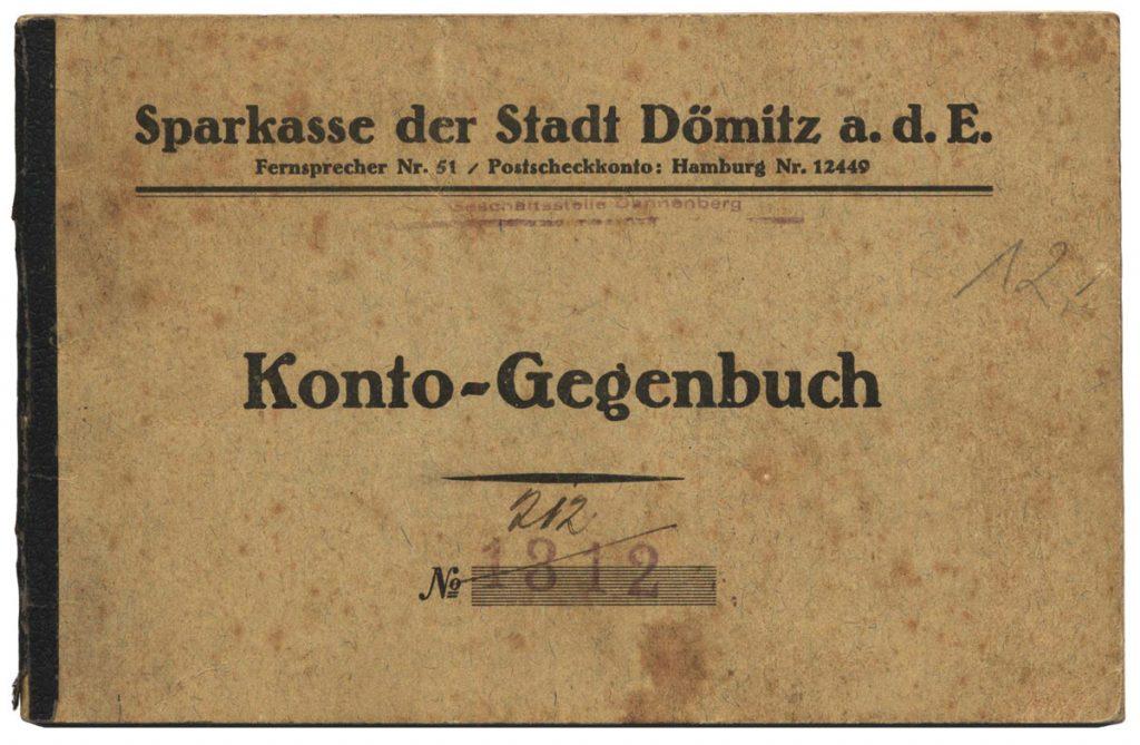 Konto-Gegenbuch Sparkasse Doemitz 1924