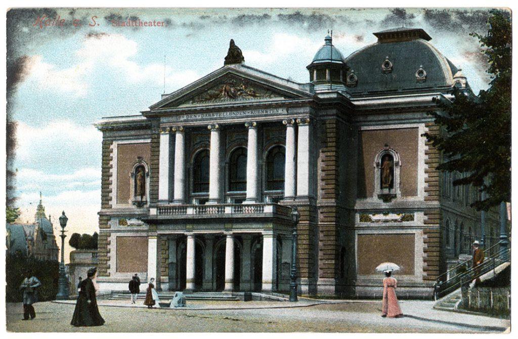 Ansichtskarte Stadttheater Halle 1910