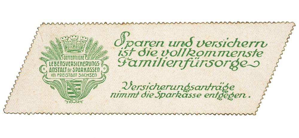 Versicherung Sachsen Sparkassen 1919