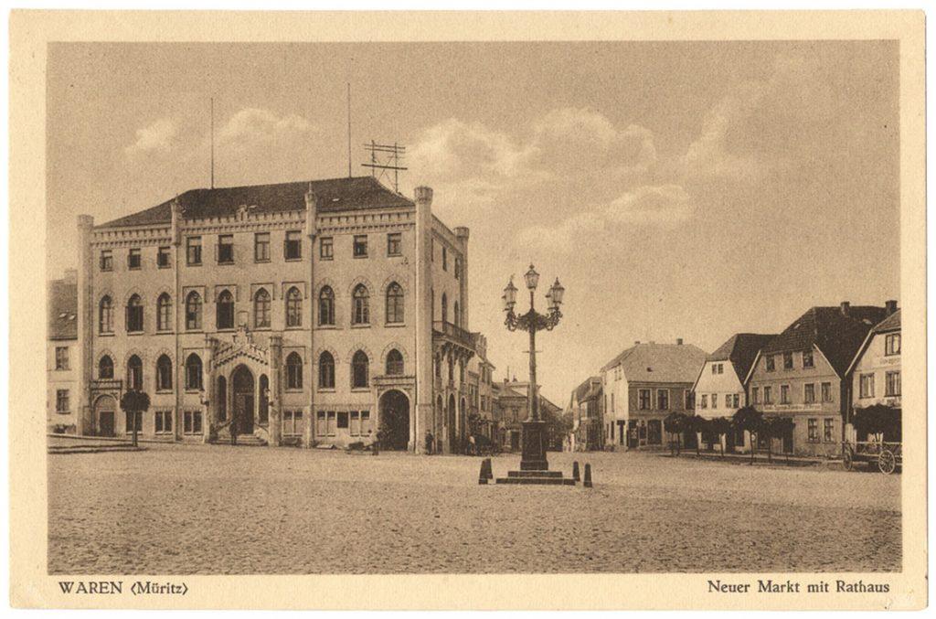 Ansichtskarte Rathaus Waren Mueritz 1910